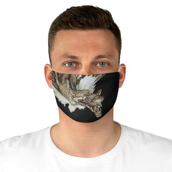 Leviathan Cloth Face Mask, Washable, Reusable, Arthur Rackham, Sea Dragon, Sea Monster
