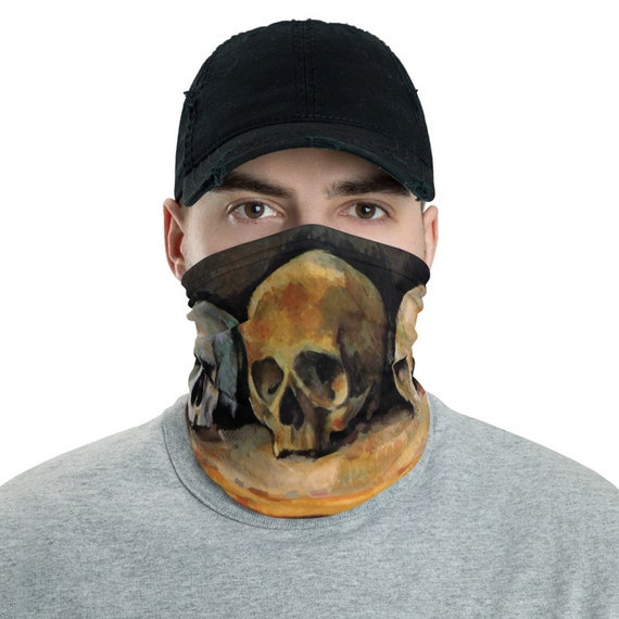 Three Skulls, Neck Gaiter, Paul Cezanne, Headband, Bandana