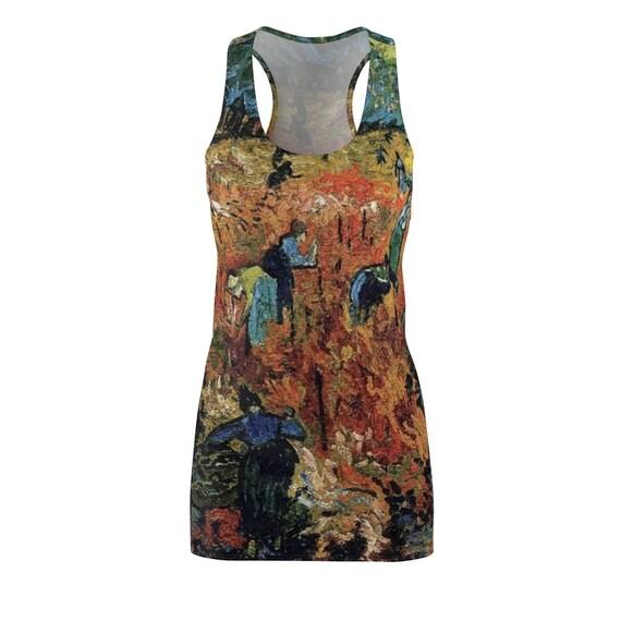 Red Vineyard, Racerback Dress, Vintage Painting, Vincent Van Gogh, 1888