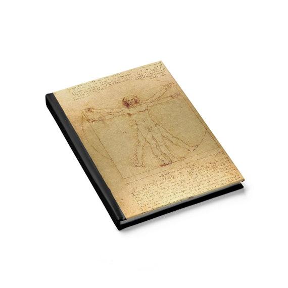 Vitruvian Man v2, Hard Cover Sketchbook, Leonardo Da Vinci Drawing, Notebook