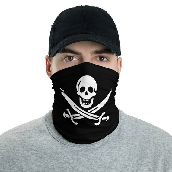 Jolly Roger, Neck Gaiter, Historical Pirate Flag Of Calico Jack, Headband, Bandana