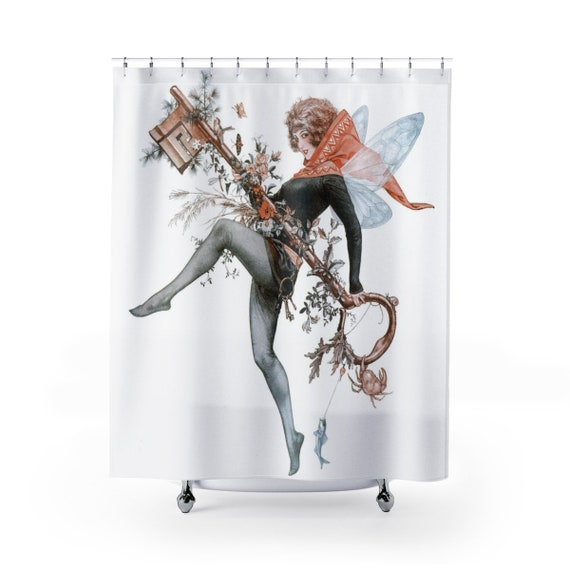 Faerie Key - 100% Polyester Shower Curtain - Victoria Illustration