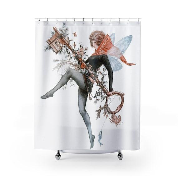 Spring Faerie Key, Shower Curtain, Victoria Illustration