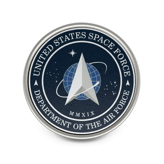 Space Force Insignia Logo, Pewter Pin, From Official USSF Seal, Military