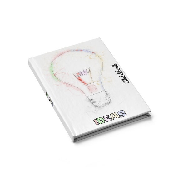 Ideas, Hardcover Sketchbook, Blank Pages, Opens Flat