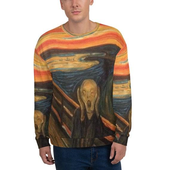 The Scream, Unisex Sweatshirt, Vintage, Antique Painting, Edvard Munch 1893
