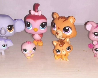 Littlest Pet Shop Mommy and Baby Set! Please Choose Your Favorite! Each Set Includes Hair Bow and 3 Toy/Treat Accessories!