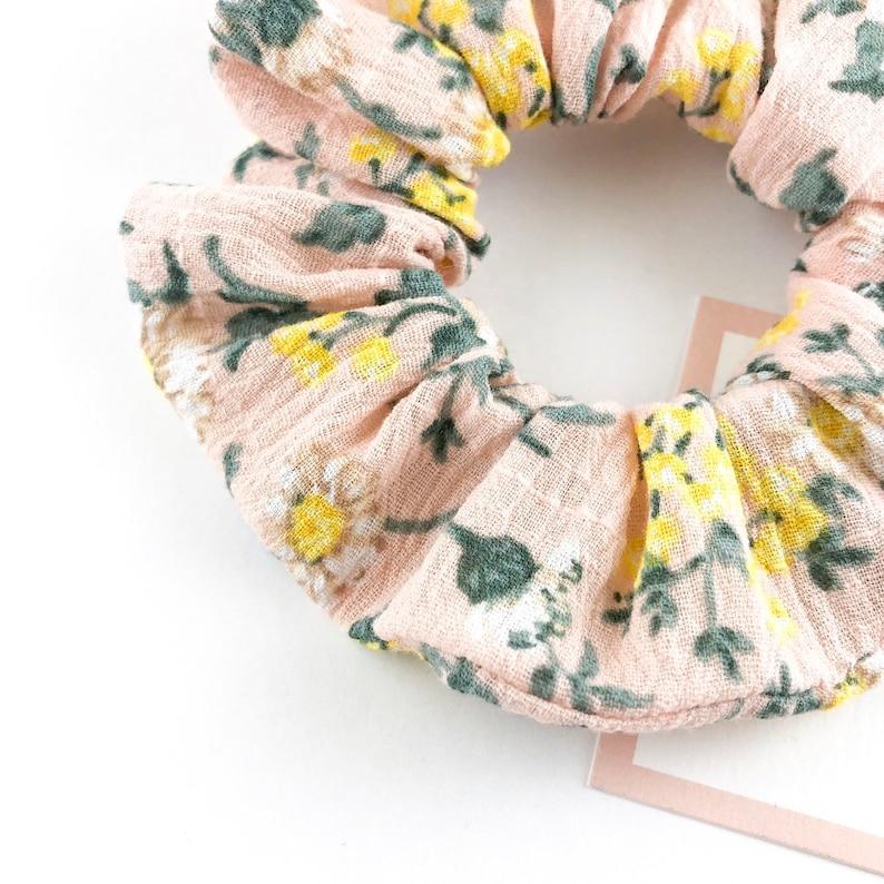 Handmade Hair Scrunchie Hair Tie Check Floral Bun Top Knot Tie Dye