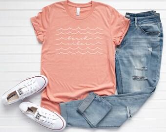 c36ee340f Beach Vibes Tee, Beach Shirt, Summer Tee, Vacation Tee, Beach Life Shirt,  Cute Summer Graphic Tee