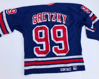 a80da243ef8 vintage Wayne Gretzky New York Rangers Home Blue CCM Vintage Jersey Unknown  Auto Signed NY 1990s 90s Hockey legend