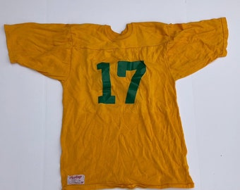 ac9265c3f Vintage Blank Rawlings Yellow Football Shirt Jersey Size Medium M 70s 80s  Green