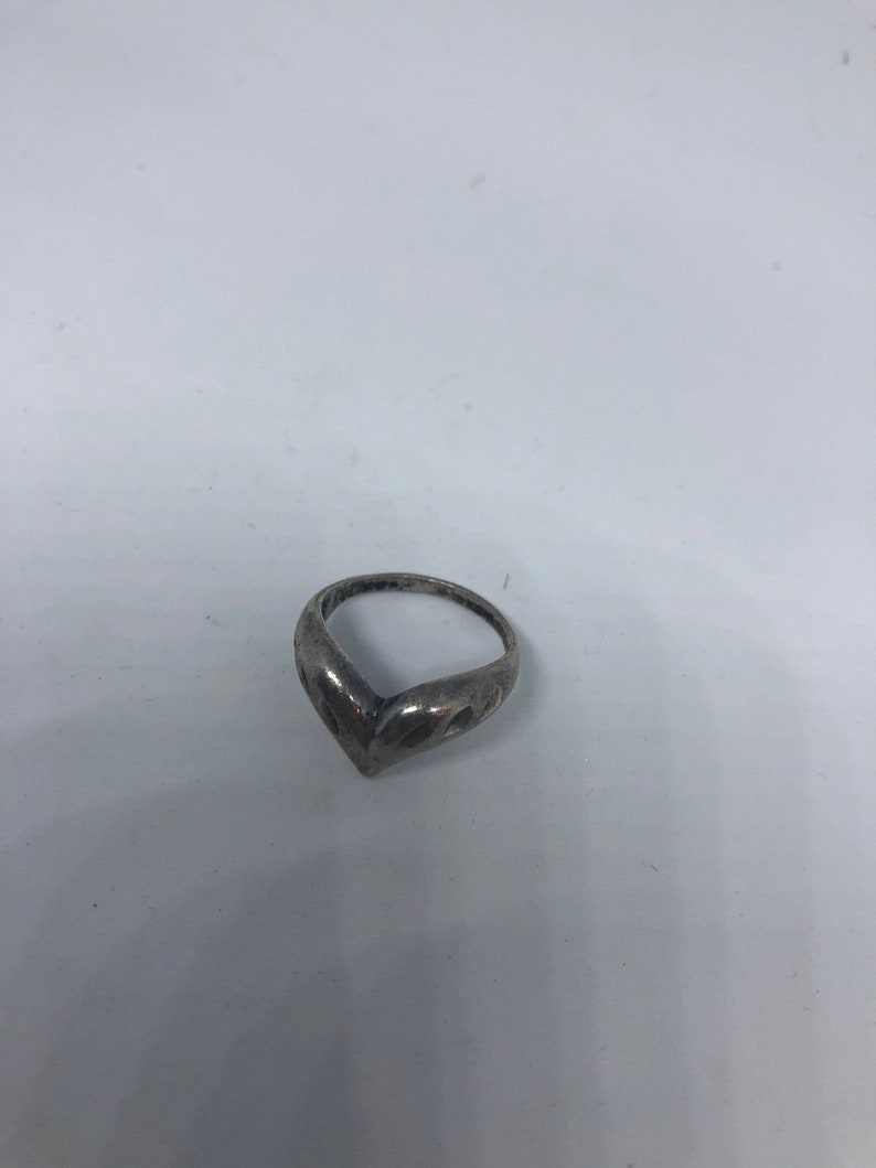 Vintage sterling silver heart ring size 6.5 love gifts for her womens girlfriend
