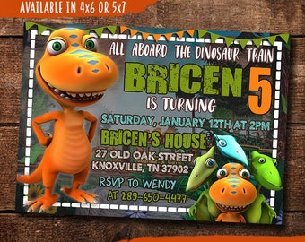Dinosaur Train Birthday Invitation Digital Print Yourself Invite Party