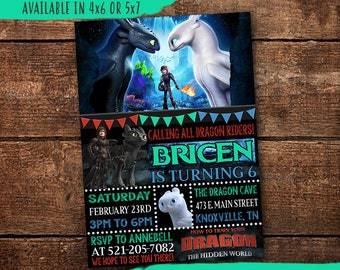 How To Train Your Dragon Invitations Etsy