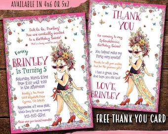 Fancy Nancy Birthday Invitation, Fancy Nancy Invite, Fancy Nancy Birthday Party, Digital-Print Yourself Fancy Nancy Party Invitation
