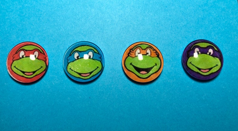 Teenage Mutant Ninja Turtles Michelangelo Metal Fridge Magnet TV Film Official