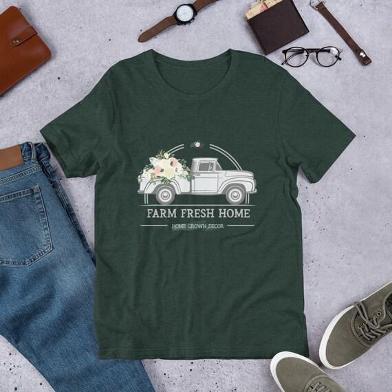 Farmer Girl Vintage Truck Farmers Market Fresh Flowers The Etsy