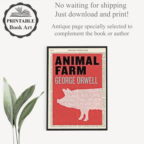 Printable Animal Farm Literary Print George Orwell Etsy