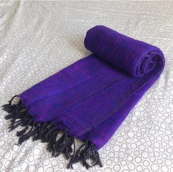 Unisex Yak Wool Shawl Blanket Throw Wrap Nepalese Wool Acrylic mix