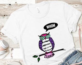 Funny Owl Unisex T-Shirt, Funny Tshirt