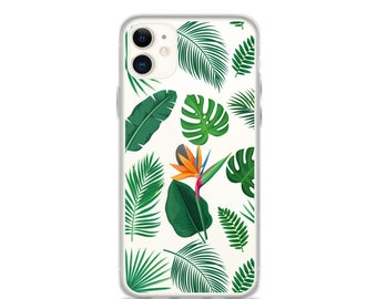 iPhone 11 Pro Max Case Tropical Leaves Clear iPhone 11 Case iPhone 11 Pro Case iPhone XR Case iPhone XS Max Case iPhone X Case 6 7 8 Plus