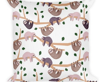 Sloth Pillow, Sloth Gift, Sloth Decor, Home Decor, Sloth Cushion