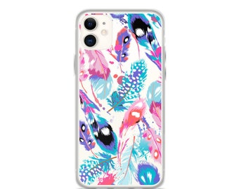 iPhone 11 Pro Max Case Feathers Printed Clear iPhone 11 Case iPhone 11 Pro Case iPhone XR Case iPhone XS Max Case iPhone X Case 6 7 8 Plus