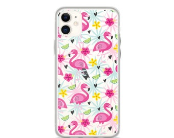 iPhone 11 Pro Max Case Flamingo Tropical Clear iPhone 11 Case iPhone 11 Pro Case iPhone XR Case iPhone XS Max Case iPhone X Case 6 7 8 Plus