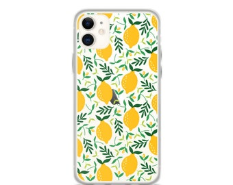 iPhone 11 Pro Max Case Lemons Printed Clear iPhone 11 Case iPhone 11 Pro Case iPhone XR Case iPhone XS Max Case iPhone X Case 6 7 8 Plus