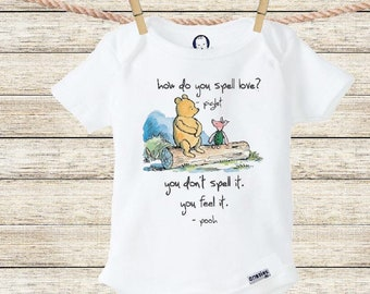 How Do You Spell Love Onesie® Baby Shower Gift Unique Baby Gift Boho Baby Clothes Newborn Boy Outfit New Baby Girl Gift Bear Onesie