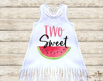 16b7b1e9566 Two Sweet Melon Birthday Dress Watermelon Second Birthday Girl Outfit  Watermelon 2nd Birthday Watermelon Dress Summer Dress Birthday Girl