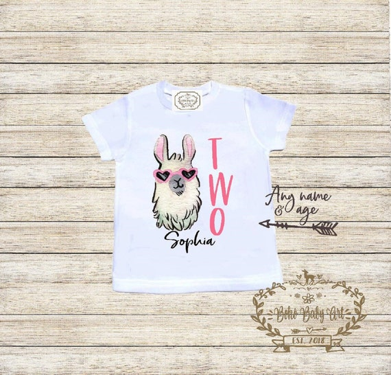 Llama BIRTHDAY shirt for baby Cape wearing llama on a bodysuit for your trendy baby.