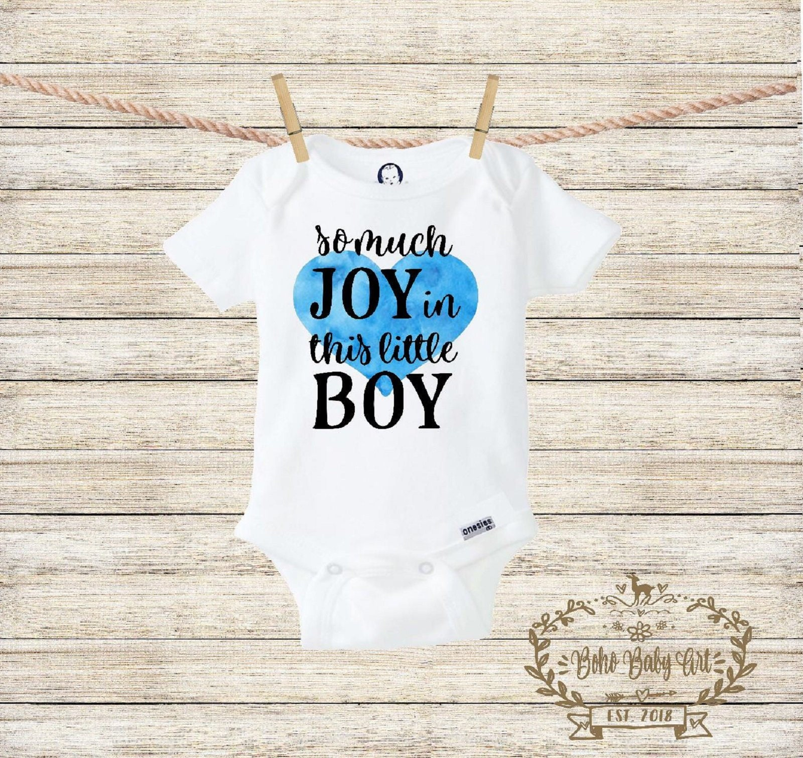 075ad9c1e0d So Much Joy in this Little Boy Onesie® Baby Boy Clothes Floral