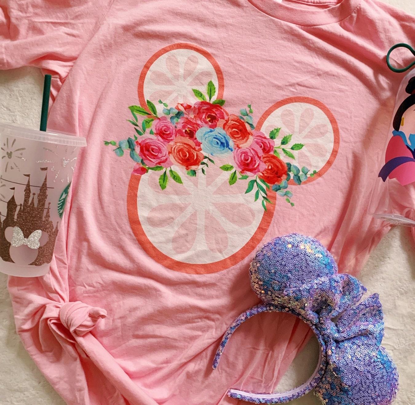 flower and garden show t-shirt, grapefruit, disney world