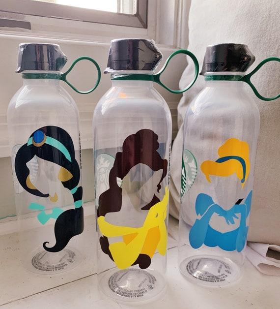 6e522b785f0 Personalized Starbucks Reusable Water Bottle w/ MultiColored Silhouette,  Plastic Tumbler
