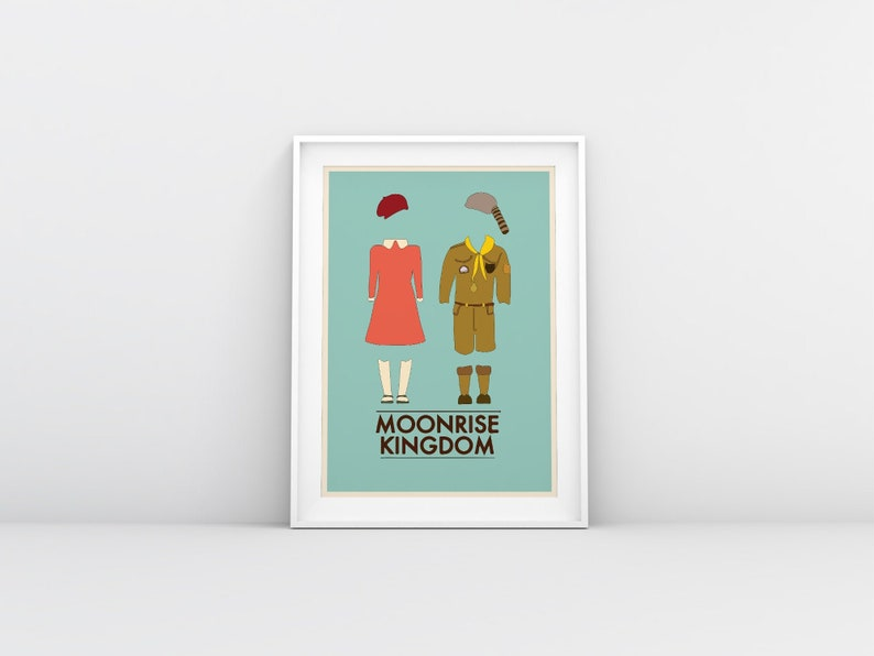 Moonrise Kingdom minimalist Movie Poster alternative Wes PAPER B3 35X50 cm