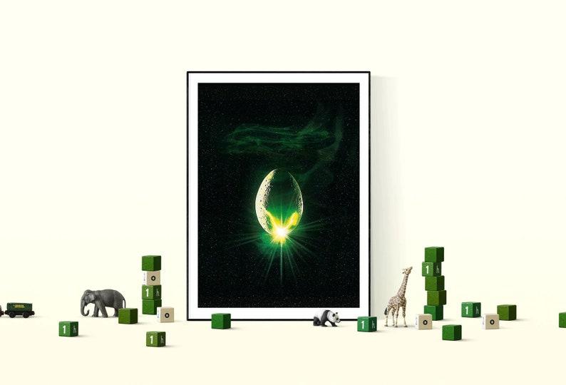 Alien Movie Minimal Poster  art deco Print  Movie artwork A1 84X59 cm