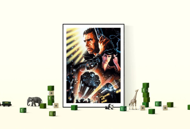 Blade Runner 1982 Minimal Movie art deco Poster Classic A1 84X59 cm