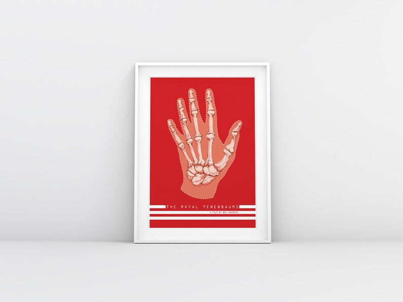 The Royal Tenenbaums Movie Poster  Wes Anderson Minimalist PAPER A3 42X29 cm