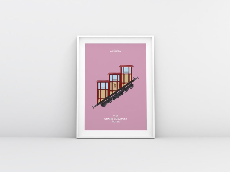 The Grand Budapest Hotel movie minimalist poster directed by image 0