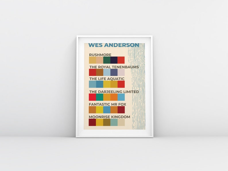 Wes Anderson Color Guide Poster  Rushmore The Royal image 0