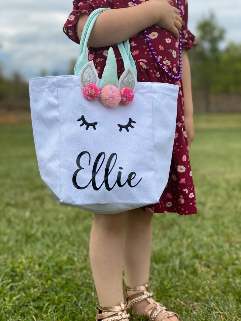 Unicorn Tote Bag Easter Personalized Customized Magical image 0
