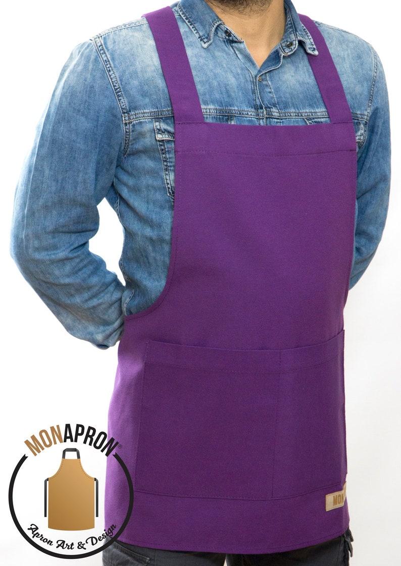 05 Monet Purple Apron