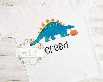 T-Rex Or Treat Raptor Trick or Treat Halloween Toddler//Kids Long Sleeve T-Shirt