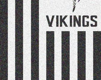 Vikings Wood Flag Etsy