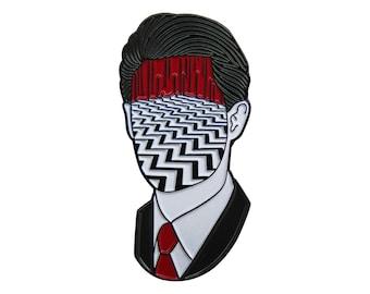 COOP - Twin Peaks inspired enamel pin - Special Agent Dale Cooper - Black Lodge