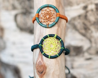 Dreamcatcher bracelets - micro macrame jewelry- Custom colors Made to Order