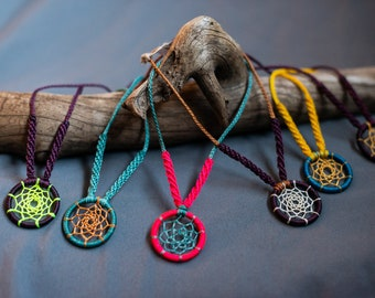 Dreamcatcher necklace - boho accessories - Made To Order Custom Colors