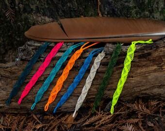 Custom colors bracelet -  Double Mountain Weave - Artisan macrame bracelet