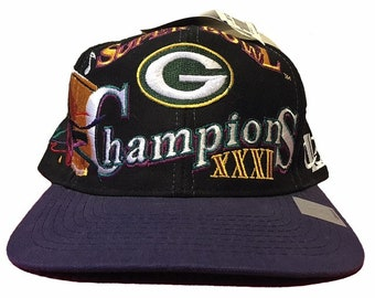 efbac4e39 Vintage Green Bay Packers Super Bowl XXXI Hat